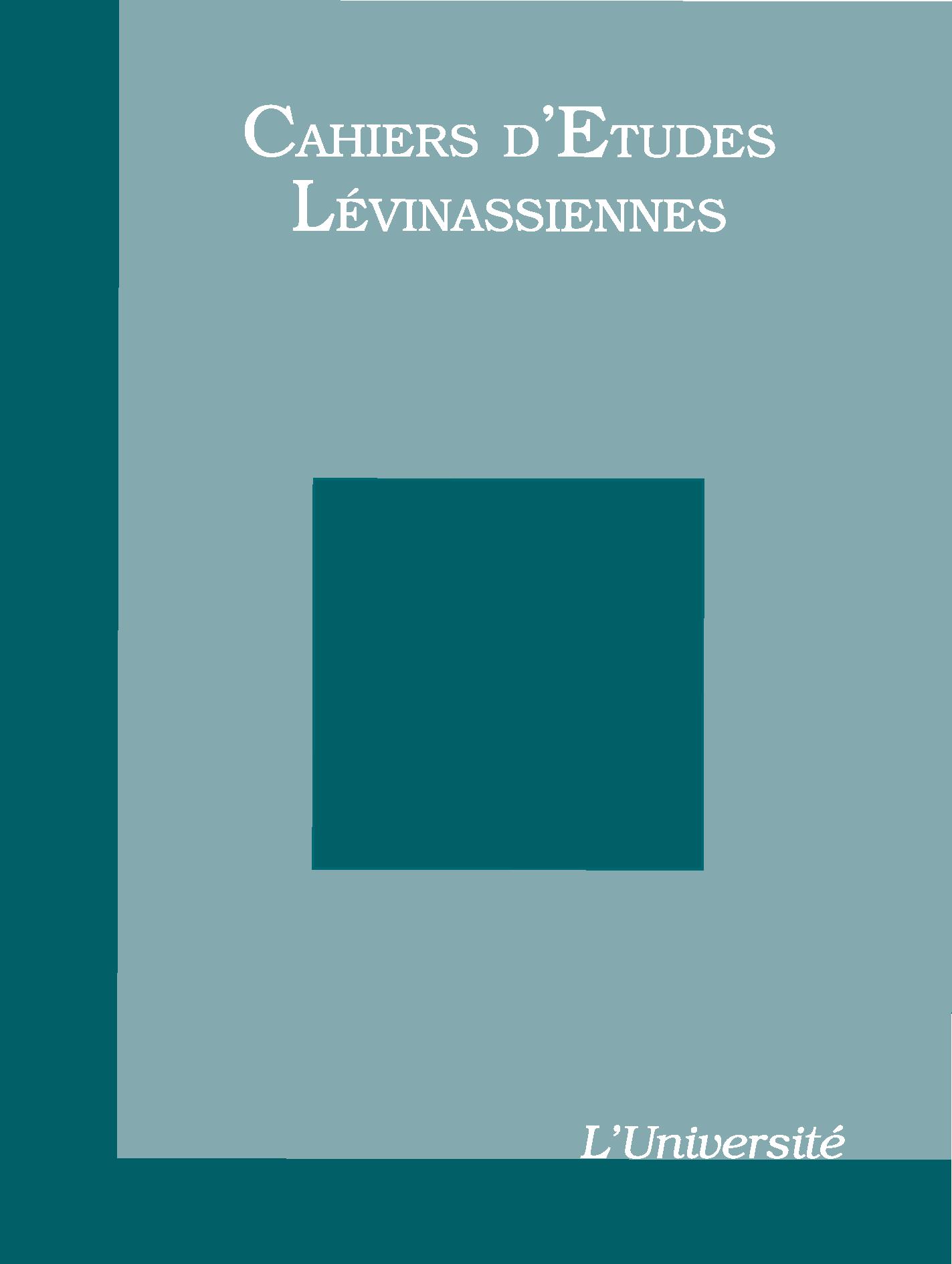 Couverture des Cahiers d'études lévinassiennes n°10, L'Université