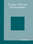 Couverture des Cahiers d'études lévinassiennes n°6