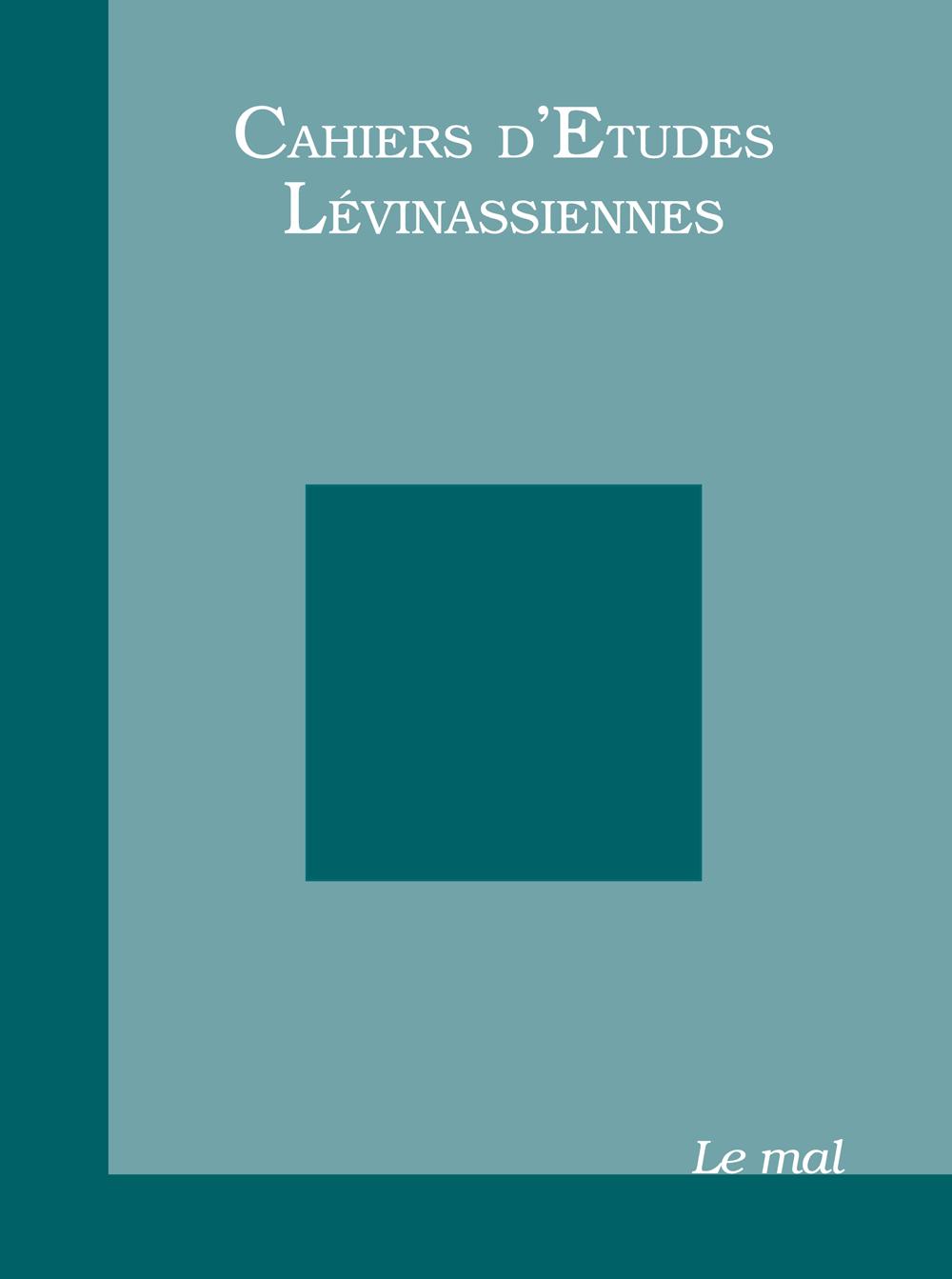 Couverture des Cahiers d'études lévinassiennes n°7, Le mal
