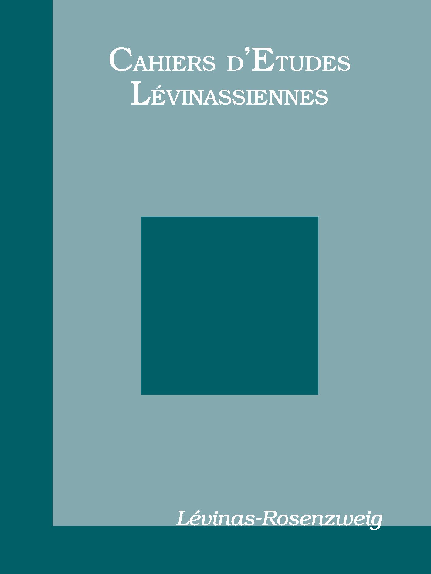 Couverture des Cahiers d'études lévinassiennes n°8, Lévinas-Rosenzweig