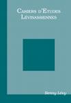 Couverture des Cahiers d'études lévinassiennes n°Hors-Série Benny Lévy